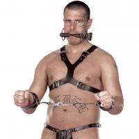ledapol 5048 sm herre bryst sele læder - gay harness