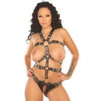 ledapol 5070 dame læder underbukser - sele body