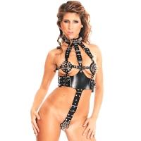 ledapol 5164 dame læder underbukser - sele body