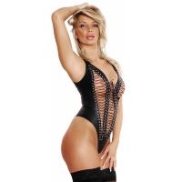 ledapol 5242 læder body - dame bodysuit