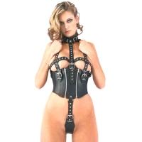 ledapol 5280 dame læder underbukser - sele body