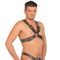 ledapol 5516 sm herre bryst sele læder - gay harness