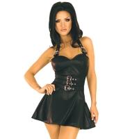 ledapol 5576 læder mini klänninge - dame korte klänninge
