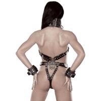 ledapol 5578 dame læder underbukser - sele body