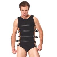 ledapol 5701 sm herre sele body læder - gay harness