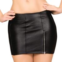 ledapol 5832 læder mini nederdel - dame korte nederdele