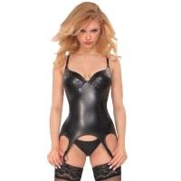 ledapol 6049 kunstlæder body - dame bodysuit