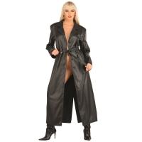ledapol 790 læder frakke - dame frakke