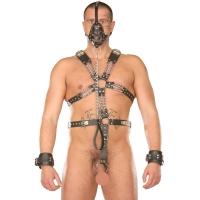 ledapol 877 sm herre sele body læder - gay harness