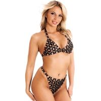 ledapol 986 + 987 læder brystholder + slip - 2 stk. som sæt - sexet lingeri