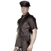 ledapol 991 herre læder skjorte - gay skjorte